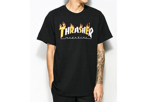Thrasher Thrasher Tee Flame Mag Black