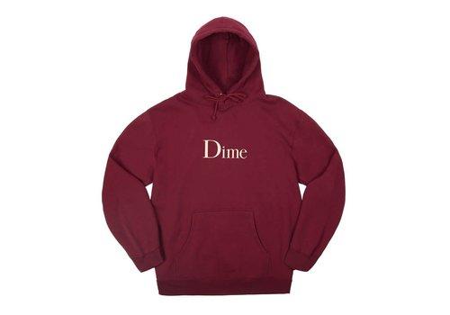 Dime Dime Classic Logo Hood Burgundy