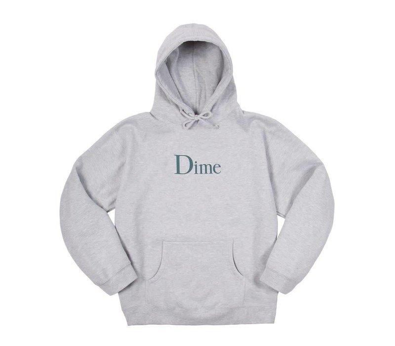 Dime Classic Logo Hood Heather Grey