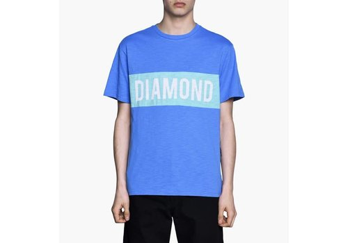 Diamond Diamond Elliot Tee Blue (Cut & Sew)