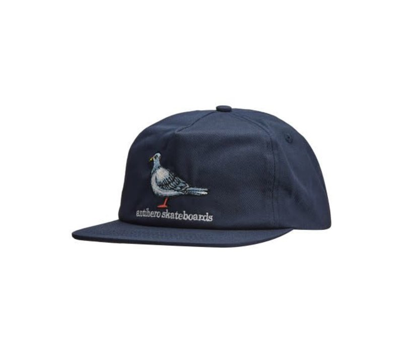 Anti Hero Pigeon EMB 5 Panel Hat Navy