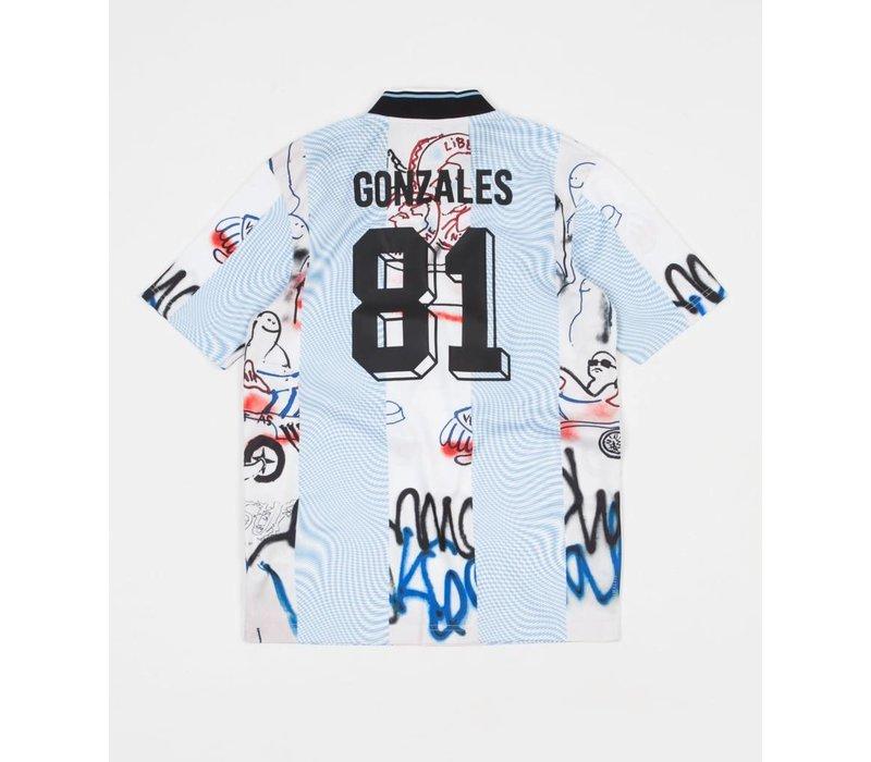 Adidas Gonzales Jersey Black/White/Blue