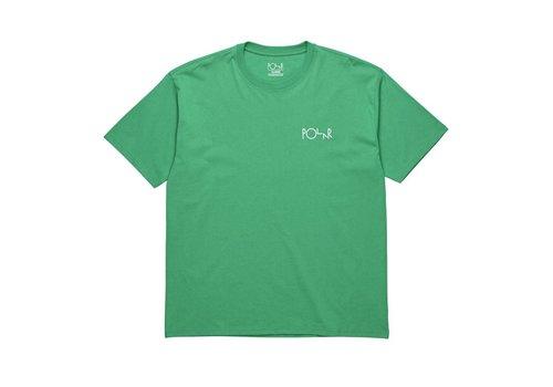 Polar Polar Stroke Logo Tee Green