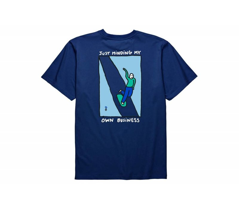 Polar Just Minding My Own Business Tee Midnight Blue
