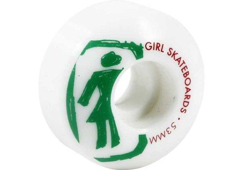 Girl Girl Wheels Sketchy White 53mm