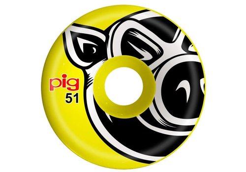Pig Pig USA Wheels Yellow 51mm