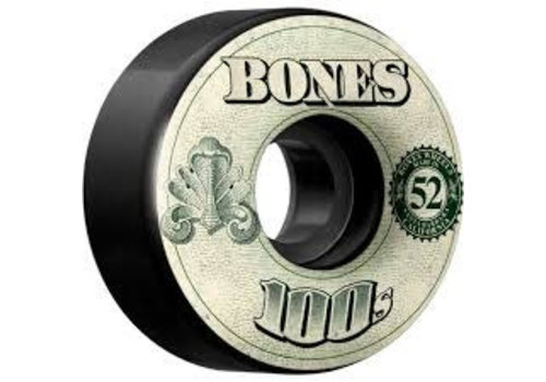 Bones Bones Wheels - V4 100's OG Formula Black 52mm