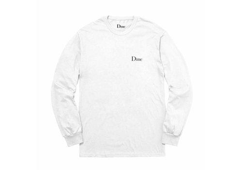 Dime Dime Classic Logo Longsleeve White