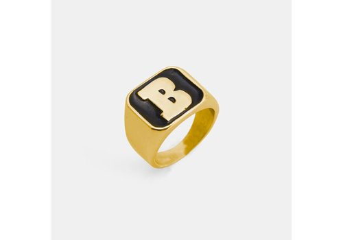 Baker Baker Capital B Gold/Black Ring