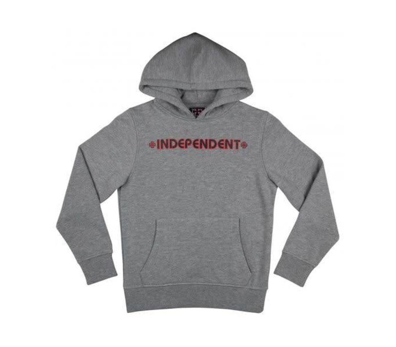 Independent Bar Cross Youth Hood Dark Grey