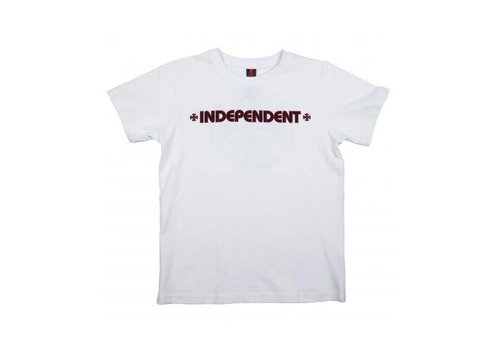 Independent Independent Youth Bar Cross Tee White