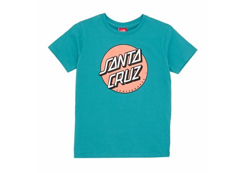 Santa Cruz Santa Cruz Youth Classic Dot Tee Lake Blue