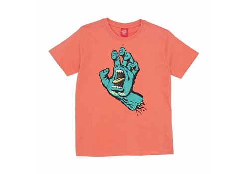 Santa Cruz Santa Cruz Youth Screaming Hand Tee Coral