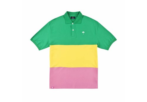 Hélas Helas Trio Polo Green/Yellow/Pink