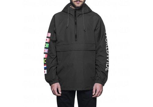 HUF Huf Regional Tour Anorak Jacket Black