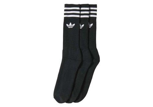 Adidas Adidas Solid Crew Socks (2-Pair) Black