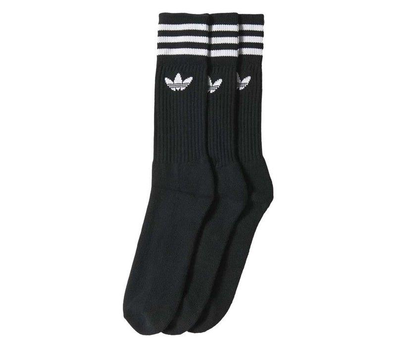 Adidas Solid Crew Socks (2-Pair) Black