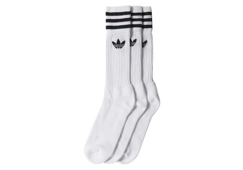 Adidas Adidas Solid Crew Socks (2-Pair) White