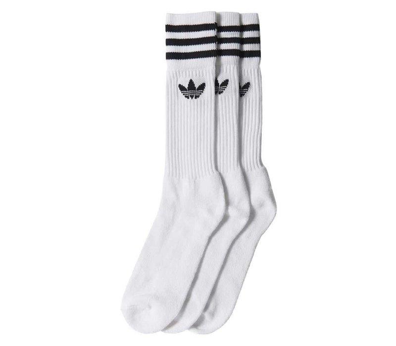Adidas Solid Crew Socks (2-Pair) White