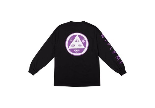 Welcome Welcome - Tali-Scrawl Long Sleeve Tee Black/Purple/White
