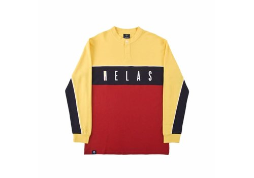 Hélas Helas Scudetto LS Tee Yellow/Red