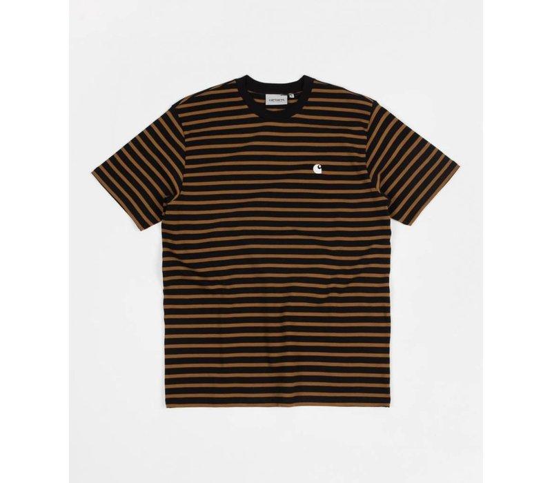 Carhartt Robie Stripe Tee Black/Hamilton