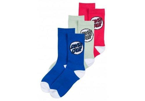 Santa Cruz Santa Cruz Womens Socks Missing Dot (3Pack) Assorted
