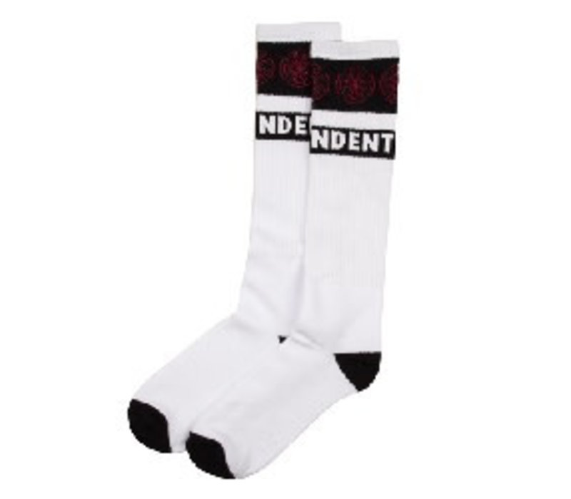 Independent Woven Crosses Sock White