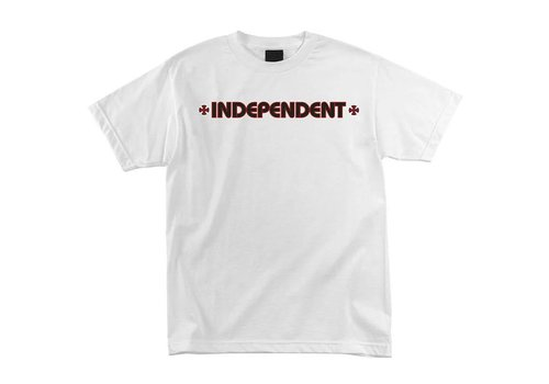 Independent Independent Bar Cross Tee White