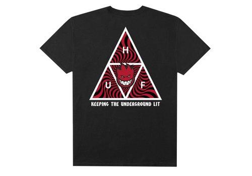 HUF Huf Spitfire Triple Triangle Tee Black