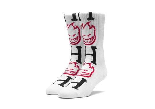 HUF Huf Spitfire Bighead H Socks White