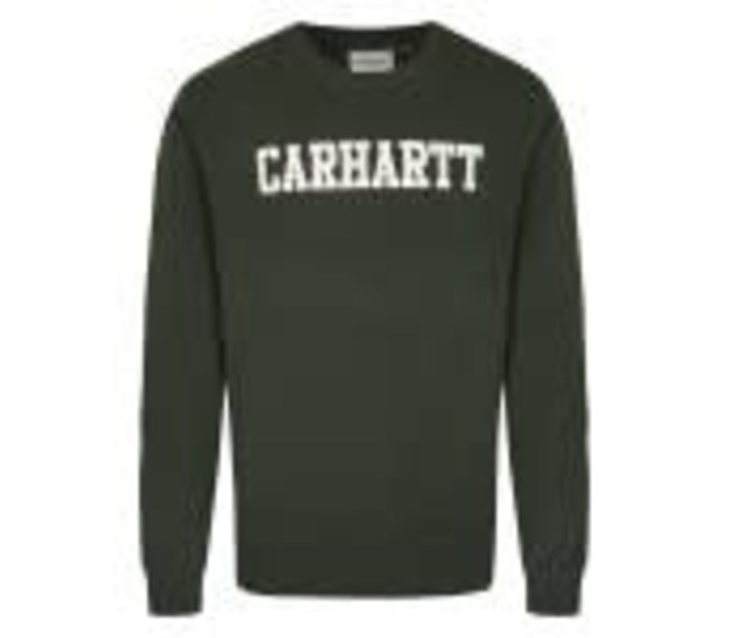 Carhartt College Sweat Loden/White