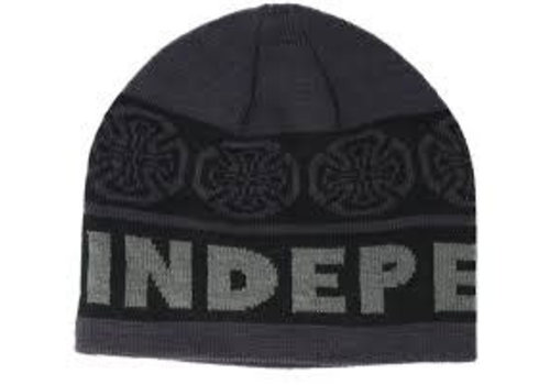 Independent Indy Woven Crosses Beanie Black/Grey