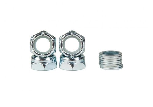 Sushi Axle Nuts & Rings Kit (4 Nuts + 8 Rings)