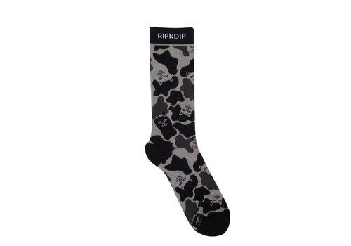 Ripndip RipnDip Nerm Camo Socks Blackout
