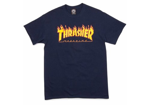 Thrasher Thrasher Flame Logo Tee Navy
