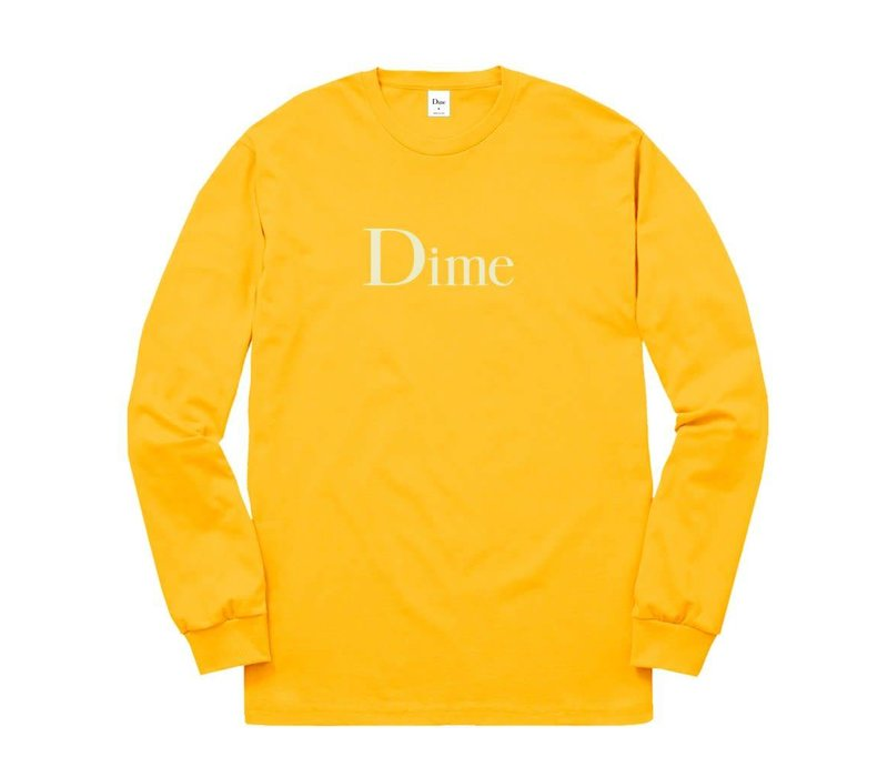 Dime Classic Logo LS Tee Gold