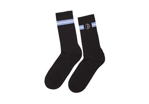 Polar Polar Stroke Logo Socks Black/Light Blue/White