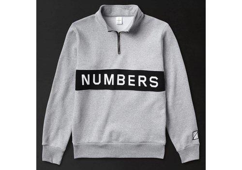 Numbers Numbers Wordmark Fleece Quarter Zip - Athletic Heather