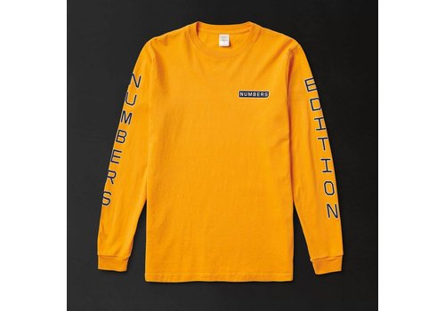 Numbers Numbers VERTICAL STACK - L/S Tee Gold