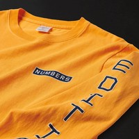 Numbers VERTICAL STACK - L/S Tee Gold