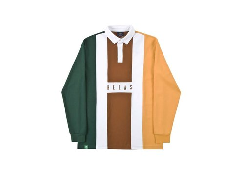 Hélas Helas Hermano L/S Polo Green/Brown/Clear Brown