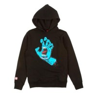 Santa Cruz Youth Screaming Hand Hood Black