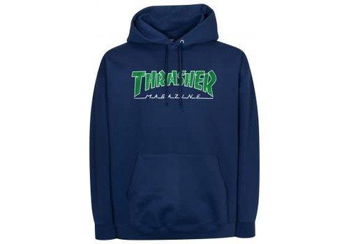 Thrasher Thrasher Outlined Hood Navy Blue
