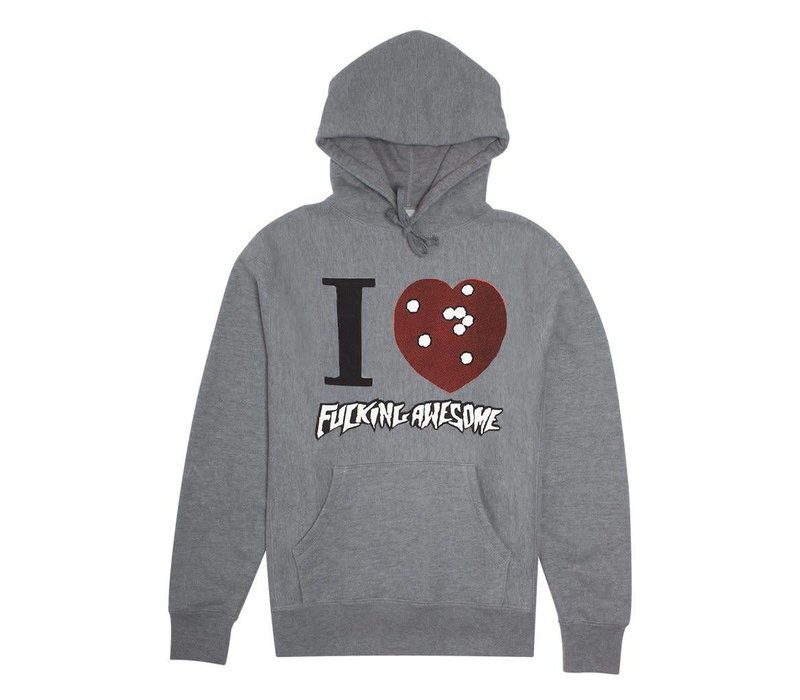 FA I Heart FA Hood Grey Heather