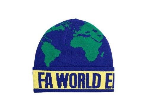 Fucking Awesome FA World Entertainment Beanie Blue