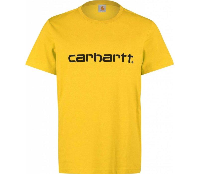 Carhartt Script Tee Primula Yellow/Black