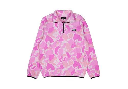 Ripndip RipNDip Nermcamo Brushed Fleece Half-Zip Jackt Pink/Camo