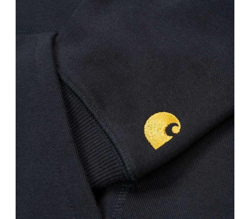 Carhartt Hooded Chase Sweat Dark Navy/Gold