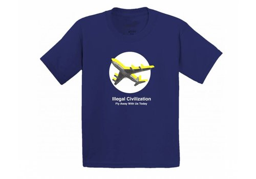 Illegal Civilization Illegal Civ Fly Away Tee Navy